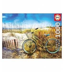 Puzzle 1000 piezas. Bicicleta en las dunas