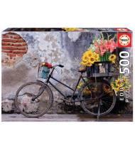Puzzle 500 piezas. Bicicleta con flores
