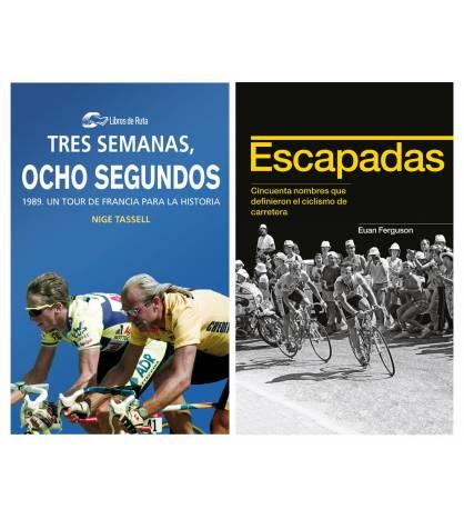 "Pack promocional ""Tres semanas, ocho segundos"" + ""Escapadas"" Packs en promoción Libros de Ruta"