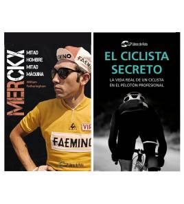 """Pack promocional """"El ciclista secreto"""" + """"Merckx. Mitad hombre, mitad máquina"""""""