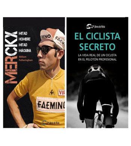 "Pack promocional ""El ciclista secreto"" + ""Merckx. Mitad hombre, mitad máquina"" Packs en promoción  Libros de RutaLibros de Ruta"