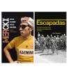 """Pack promocional """"Merckx. Mitad hombre, mitad máquina"""" + """"Escapadas"""" Packs en promoción Libros de Ruta"""