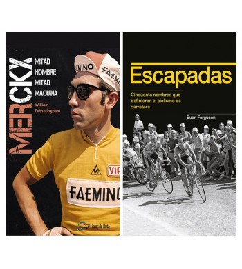 "Pack promocional ""Merckx. Mitad hombre, mitad máquina"" + ""Escapadas"""