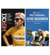"Pack promocional ""Merckx.Mitad hombre, mitad máquina"" + ""Tres semanas, ocho segundos"""