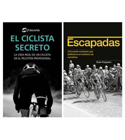 """Pack promocional """"El ciclista secreto"""" + """"Escapadas"""" Packs en promoción Libros de Ruta"""