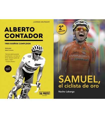 """Pack promocional """"Samuel, el ciclista de oro"""" + """"Alberto Contador"""" (sin gastos de envío)"""